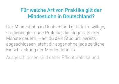 Für welche Art von Praktika gilt der Mindestlohn in Deutschland?