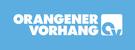 ORANGENER VORHANG