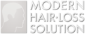 Fits in 160x50 modern hair loss solution logo
