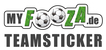 Fits in 160x50 myfooza teamsticker logo l