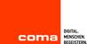 Fits in 160x50 coma logo mit claim schwarz