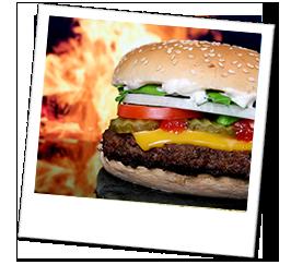 Polaroid usa burger