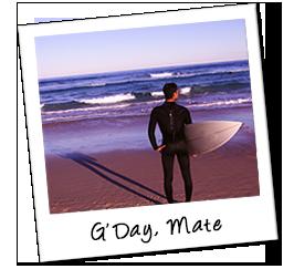 Polaroid australien surfing